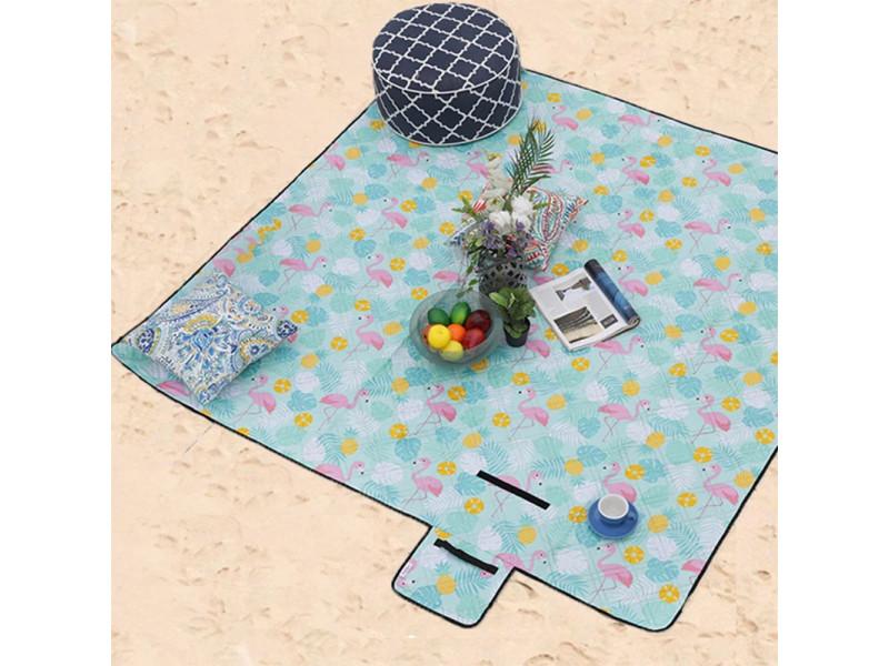 Tapis couverture multi-usage imperméable et pliable - pique-nique, camping, plage - bahamas 200 x 200 cm