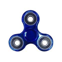 Hand spinner chrome bleu