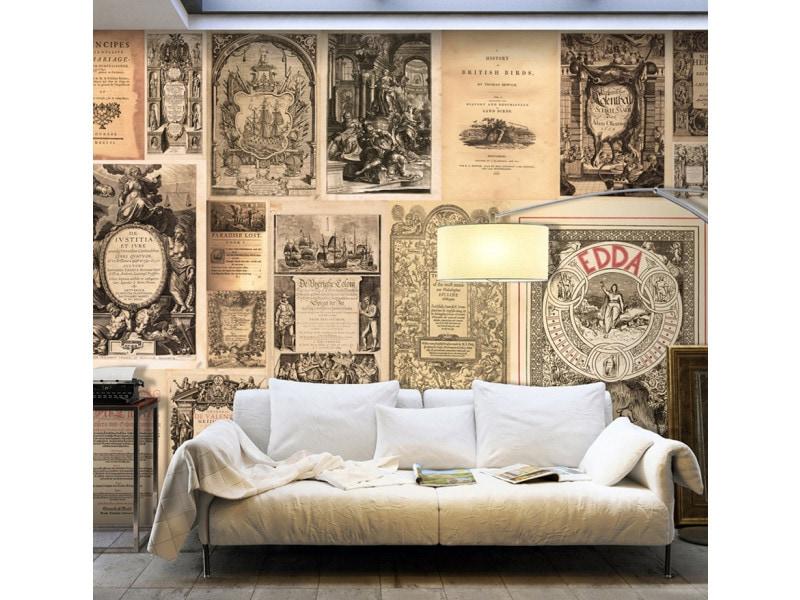 Papier peint xxl - vintage books - 500 x 280 cm