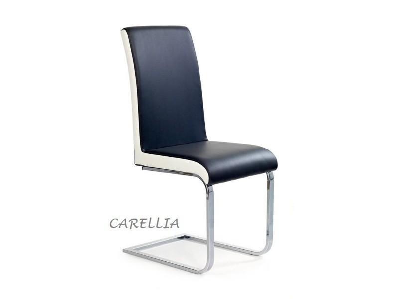 Lot de 4 chaises design - couleur : noir / blanc