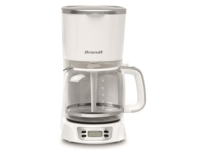 Cafetière filtre programmable 18 tasses 1000w blanc/silver - caf1318es caf1318es