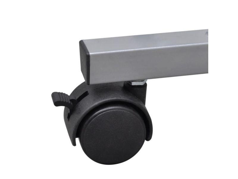 Vidaxl table de bureau noire pour ordinateur avec roulettes et