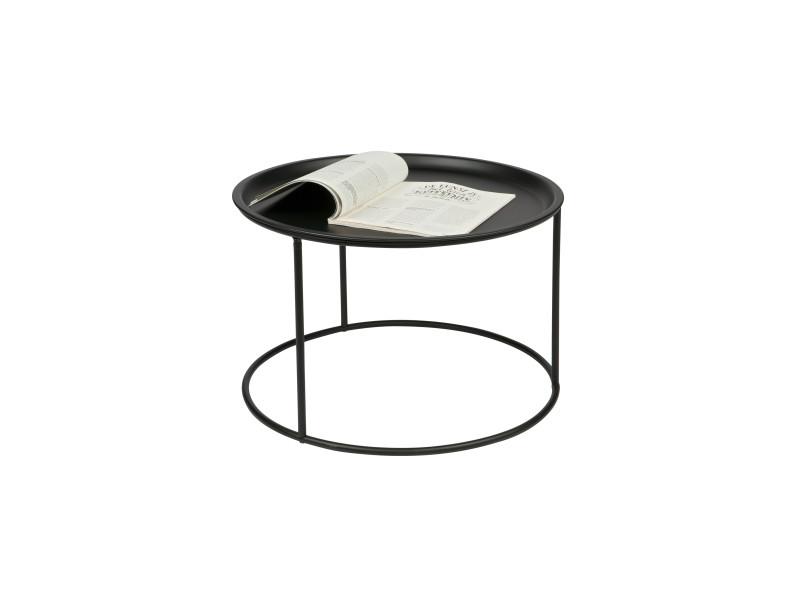 Ivar - table basse plateau amovible métal l - couleur - noir 375446-Z