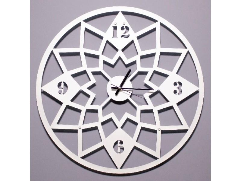 Homemania horloge de wall - pour entrée, salon, salle de séjour - blanc en métal, 50 x 0,15 x 50 cm