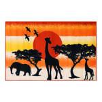 Tapis pour enfant motifs safari, 100 cm x 150 cm -pegane-