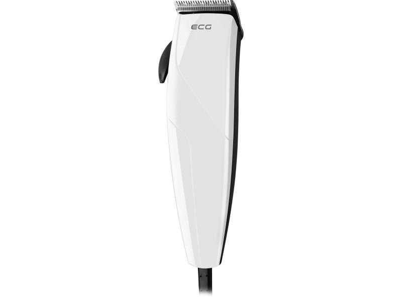 Ecg zs 1020 white - tondeuse à cheveux - lames inox - 6 sabots 8592131306394