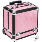 Malette trolley valise esthétique coiffure maquillage pro rose helloshop26 2008057