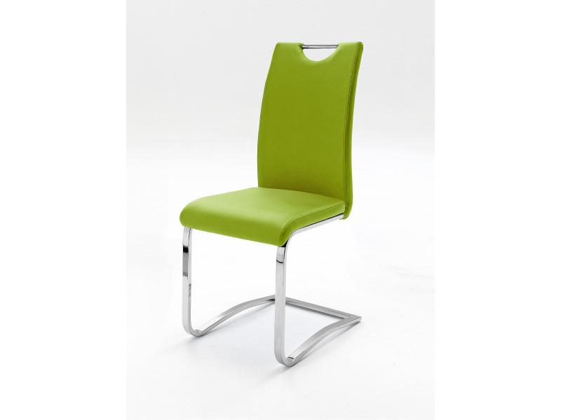 Polyester Lot Avec En Design Piètement Pomme De 4 Vert Chaises UVSzGqMp