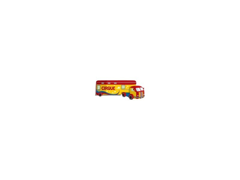 Sticker mural camion : cirque - format : 36 x 14 cm