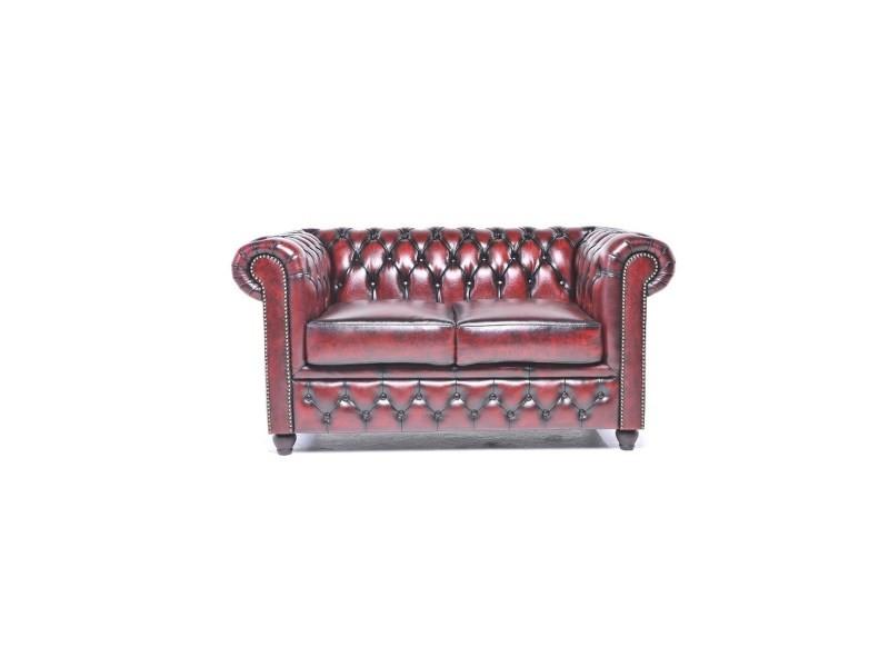 canap 3 et 2 places en cuir chesterfield orginal antique vente de canap droit conforama. Black Bedroom Furniture Sets. Home Design Ideas