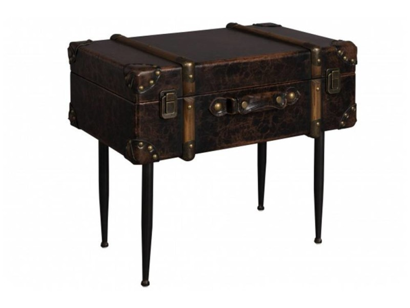 Dutchbone table d 39 appoint type malle luggage 20100862929 - Conforama table d appoint ...