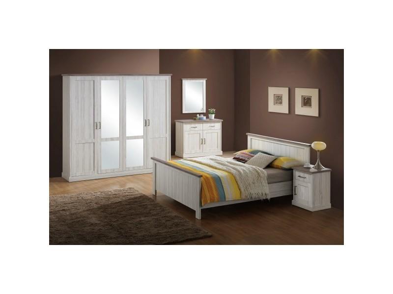 Chambre adulte complète contemporaine bella 160 x 200 cm - Vente de Lit  adulte - Conforama bcd9dc241378