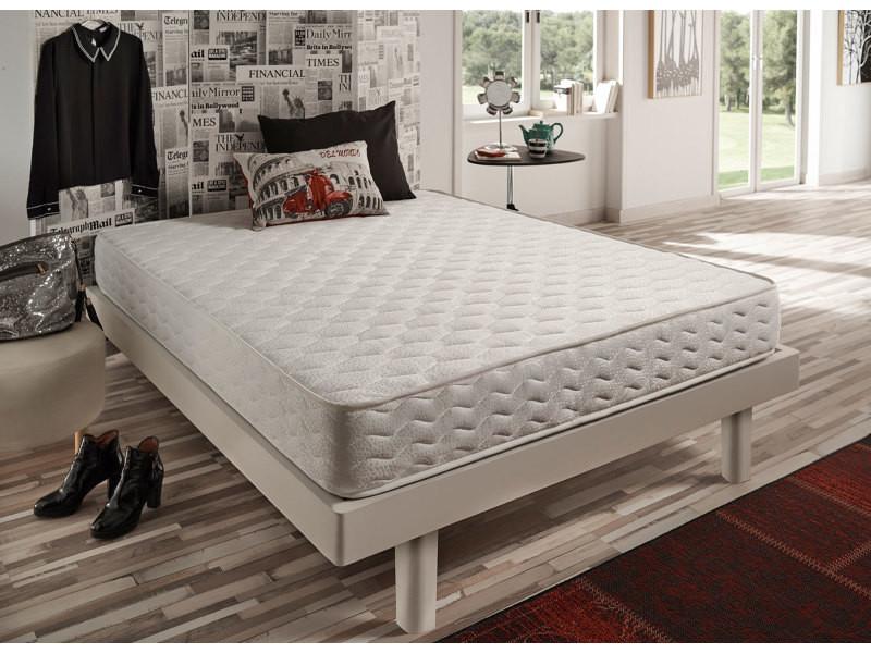 matelas focus 90x200 cm ergonomique avec coeur 100 mousse hr blue latex bi densit 7 zones. Black Bedroom Furniture Sets. Home Design Ideas