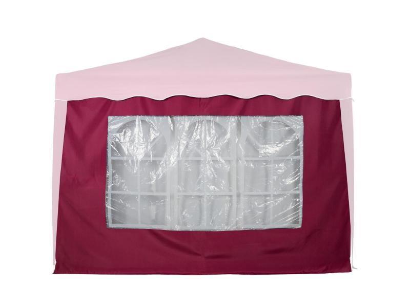 Instent® panneau latéral > avec 3 fenêtres, sans fermeture à glissière, coloris au choix - couleur : rouge