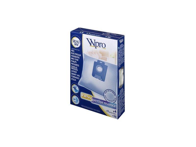 Sacs aspirateur et filtres wpro lot de 4 sacs aspirateur + filtre sb 242 mw WPR8015250023961