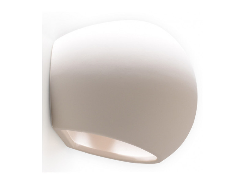 Applique murale globe céramique blanc 1 ampoule