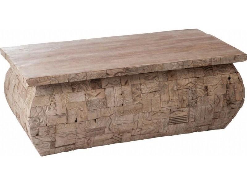 Table basse rectangulaire bois gris batchelor 68901
