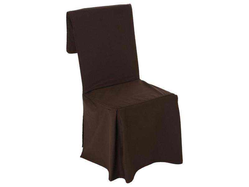 Et Cm H85 Vente Galette De Housse Chaise Chocolat CQdxBrsth