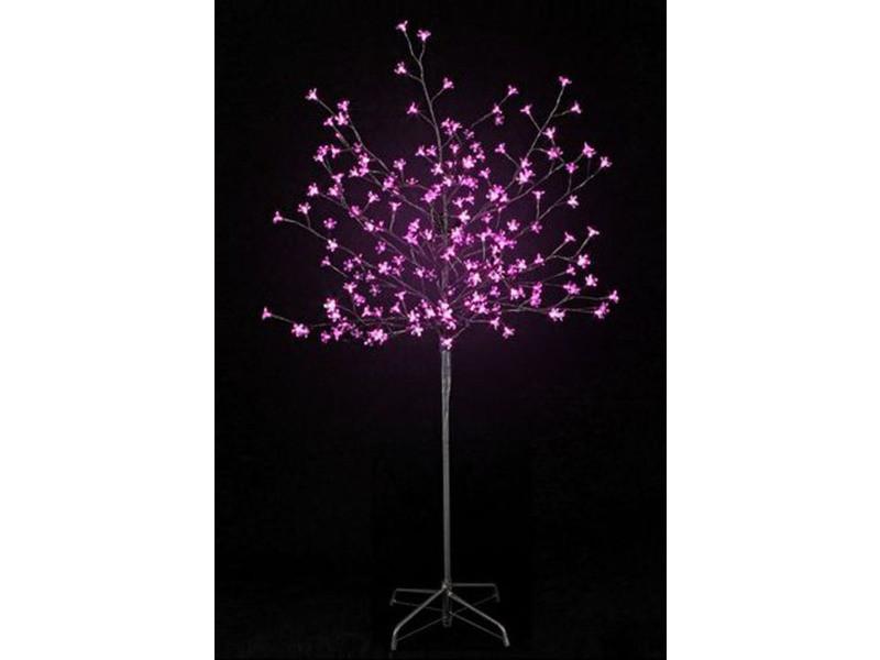 Arbre prunus lumineux 200 led en rose - 150 cm -pegane-