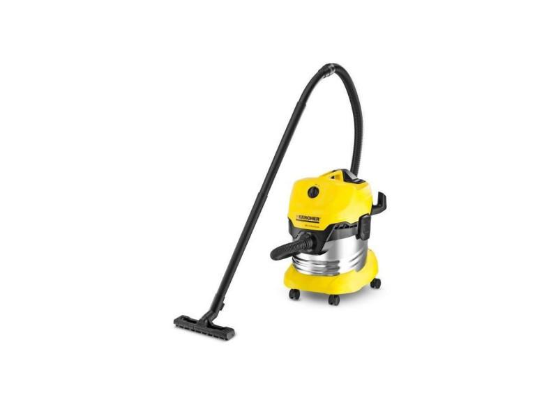 Kärcher aspirateur eau-poussiere wd 4 premium - cuve inox 20l 13481500