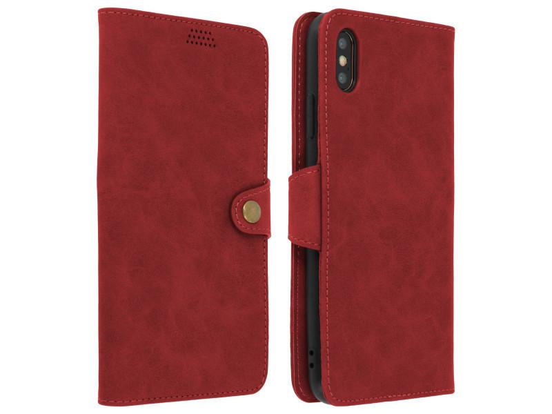 Housse apple iphone xs max etui clapet portefeuille vintage stand vidéo  rouge - Vente de Accessoires téléphone - Conforama 9d5e7cccf3c