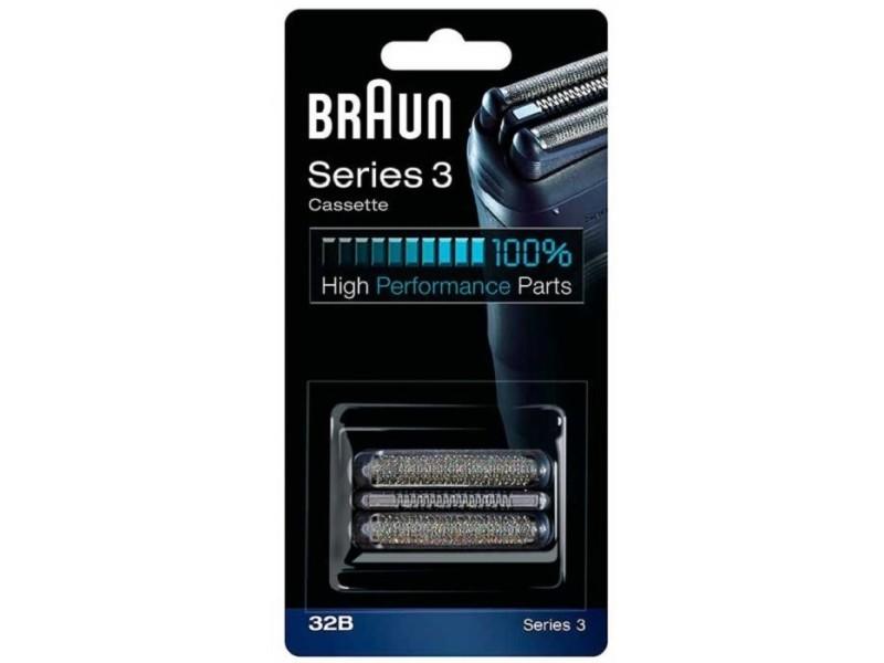 32b noir cassette series 3 300/320/340 pour rasoir braun