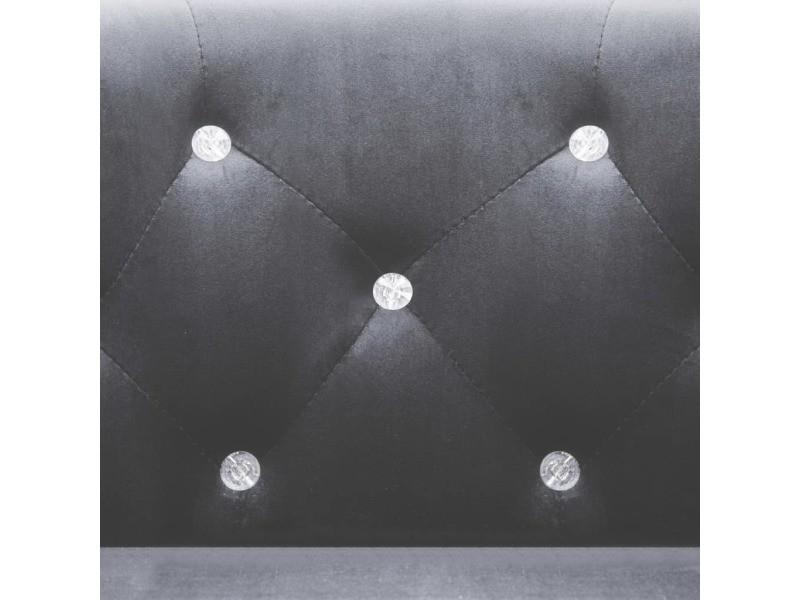 Icaverne - fauteuils club, fauteuils inclinables et chauffeuses lits famille fauteuil avec revêtement en velours 65 x 64 x 65 cm anthracite