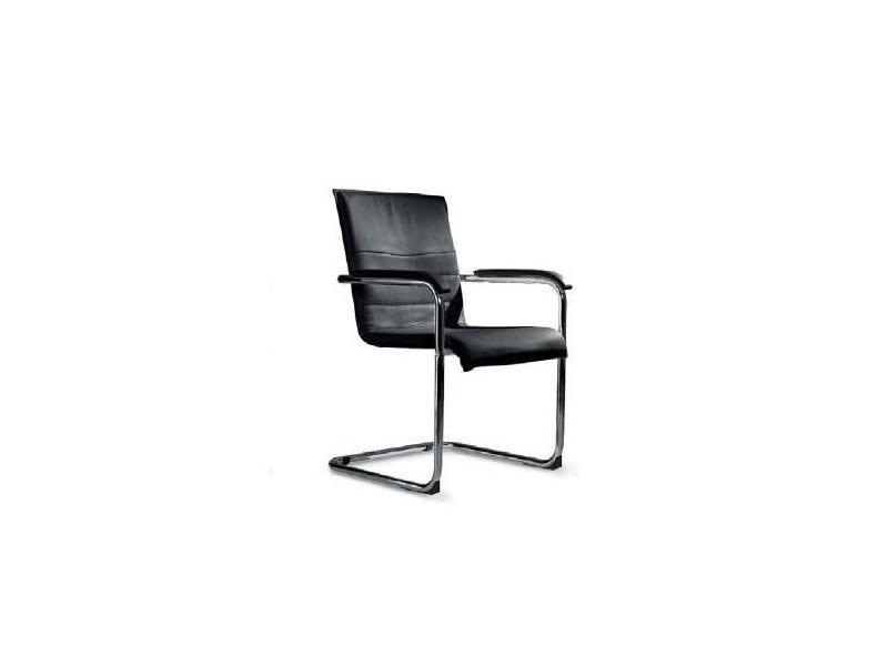 Chaise cubika design revêtement polyuréthane façon cuir noir 20100850365