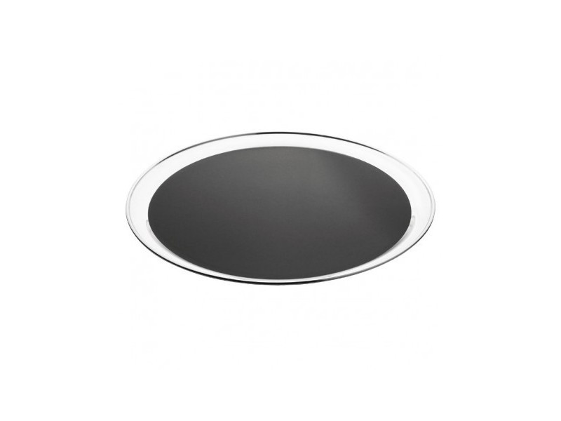 Plateau de service rond inox antidérapant - olympia 355 mm - 36 cm inox