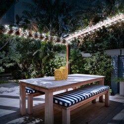 Guirlande solaire 100 led blanches décorative