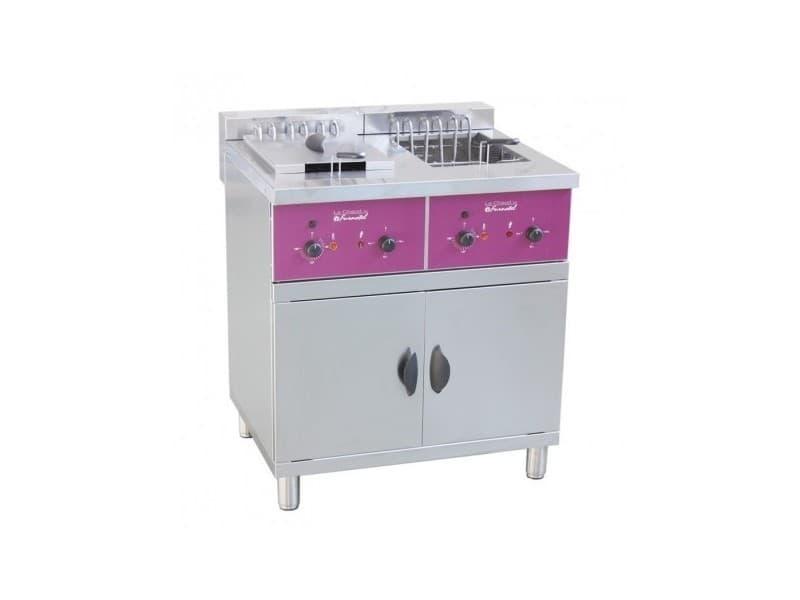 Friteuse électrique professionnelle sur coffre - 2 x 16 litres - 2x 4/8/12 kw - furnotel -