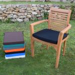 Coussin noir pour fauteuil samoa