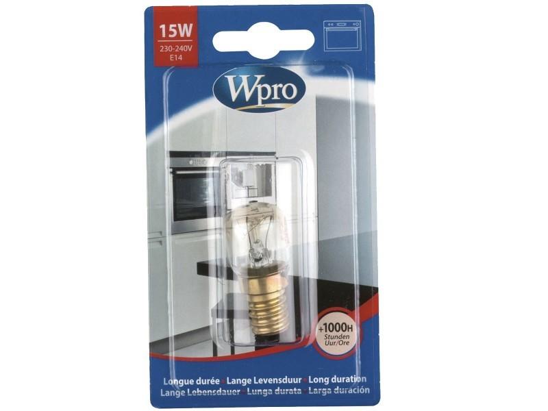 Ampoule poirette 300°c / e14 / t22 / 15w / 220v four, cuisinière wpro 484000008843
