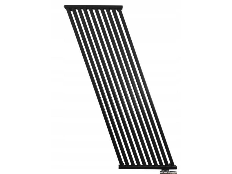 Aello   radiateur eau chaude design vertical 100x50cm puissance 722 w   radiateur chauffage central en acier   entraxe 50mm - noir