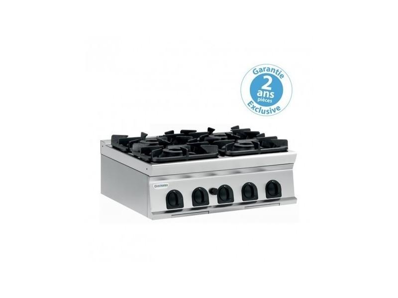 Plaque de cuisson - top 4 feux vifs gaz - gamme 700 - 700