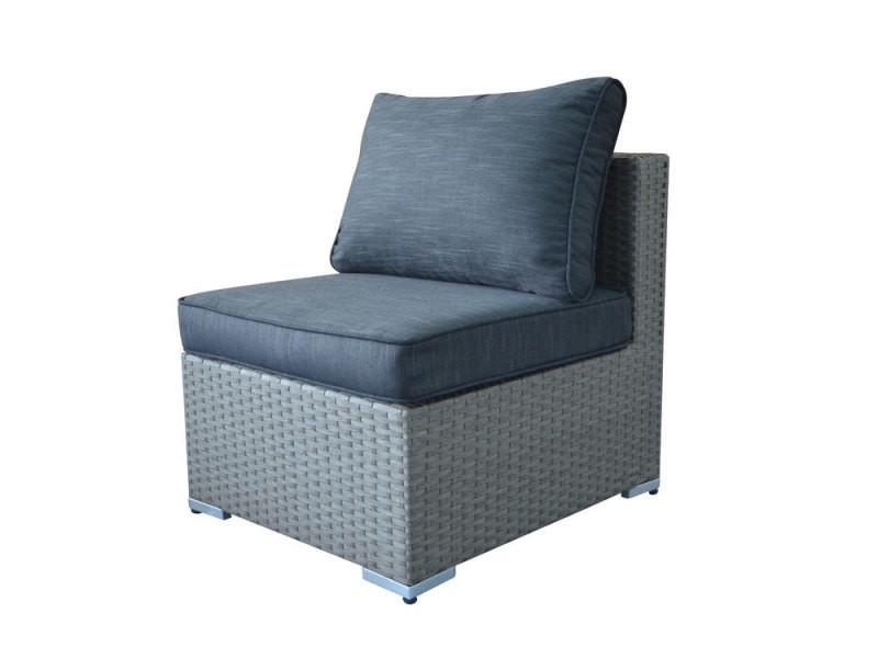 Chauffeuse en résine tressée gris pour canapé de jardin modulable ...