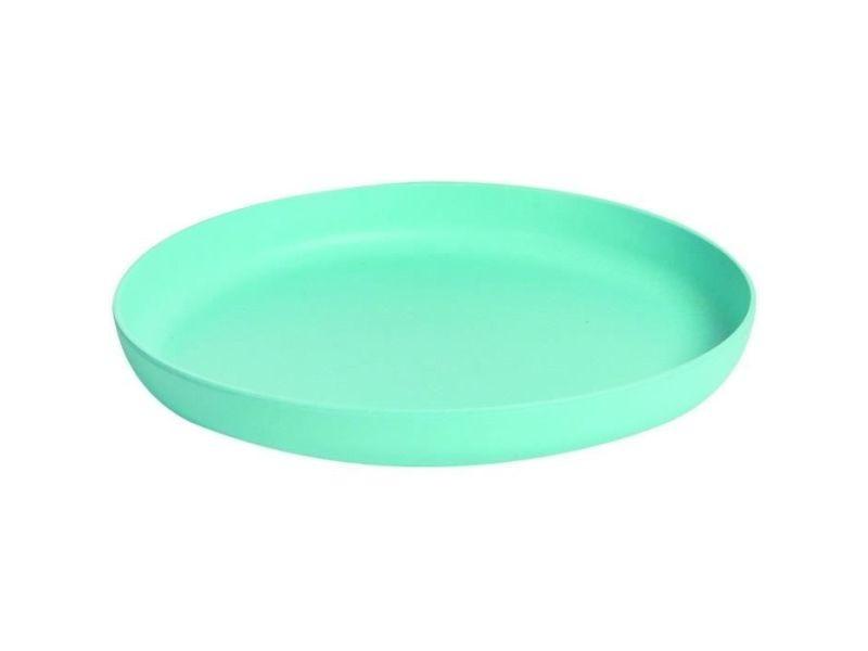 Assiette - plateau repas mill'o bébé assiette ronde - biosourcée - fibres naturelles - bleu - ø 19 cm