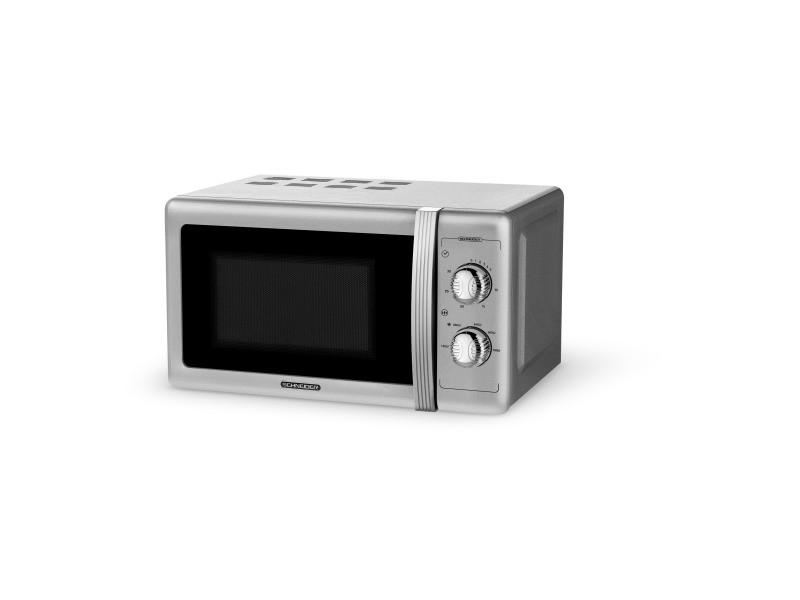 Schneider - schnsmw20vms - micro-ondes monofonction vintage - silver -700 watts