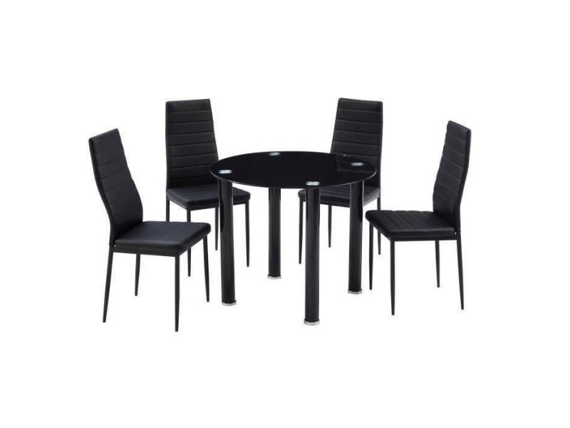 Table a manger avec chaises berenice ensemble table a manger