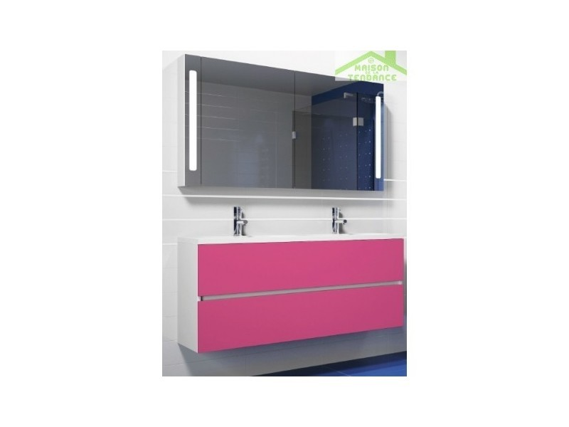 Ensemble meuble & lavabo riho cambio stretto set 22 120x38x h 58 cm - bois laqué brillant FSR120Z01DDDS22