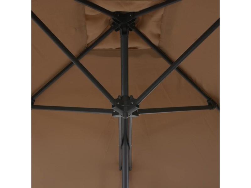 Icaverne - parasols et voiles d'ombrage famille parasol d'extérieur avec poteau en acier 250 x 250 cm taupe