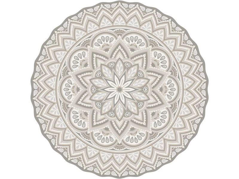Tapis intérieur extérieur en vinyle mandala 100 cm