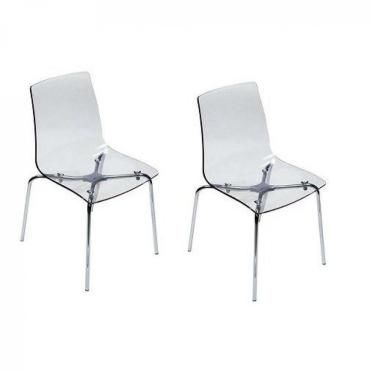 lot de 2 chaises lollipop empilable design transparente 20100851192 conforama. Black Bedroom Furniture Sets. Home Design Ideas