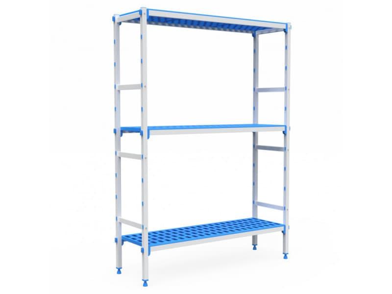 Rayonnage aluminium 3 niveaux compatible bac gn 2/3 - l 715 à 1950 mm - pujadas - 1045 mm