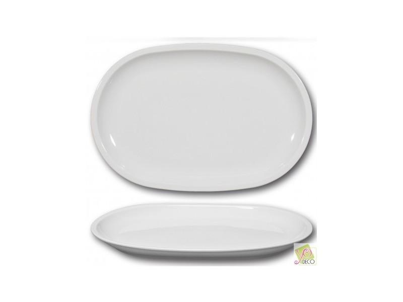 Plat ovale porcelaine blanche - l 37 cm - roma