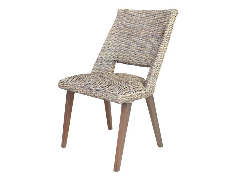 chaise gaby en rotin kubu vente de chaise conforama. Black Bedroom Furniture Sets. Home Design Ideas