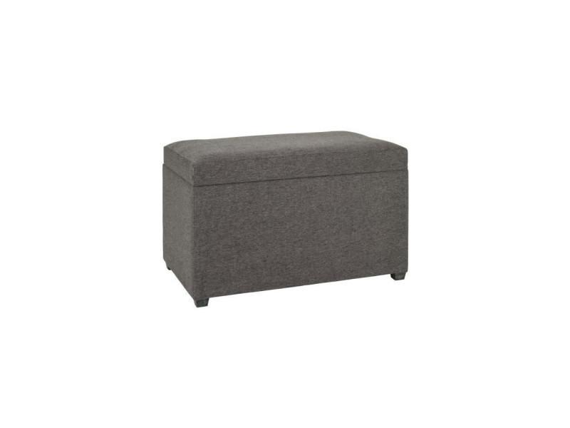 Coffre de rangement en toile anthracite - 65 x 40 x 42 cm