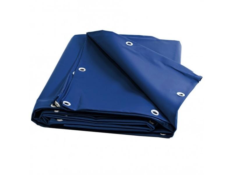 Bâche multi usages 10 x 12 m bleue 680 g/m2 pvc haute qualité