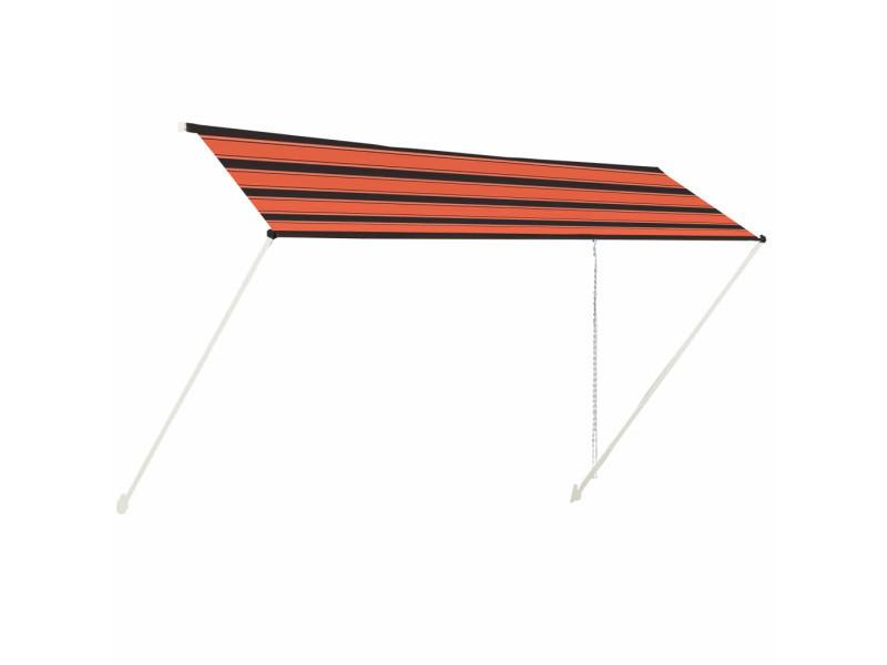 Vidaxl auvent rétractable 400x150 cm orange et marron 145899