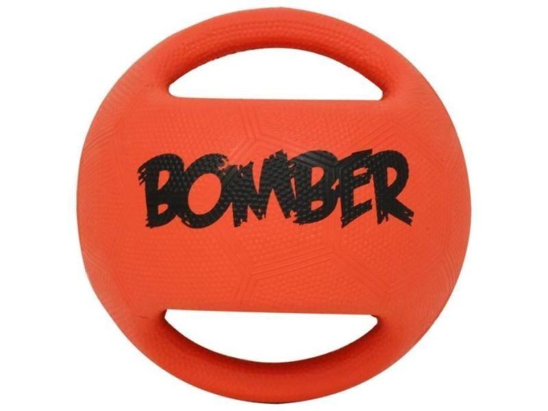 Balle - frisbee balle en caoutchouc bomber 17,8 cm - orange et noir - pour chien